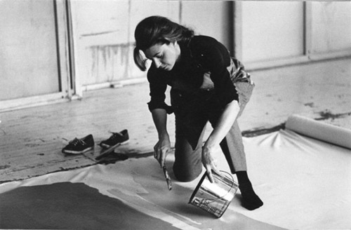 Helen Frankenthaler at work_Ernst Haas_4