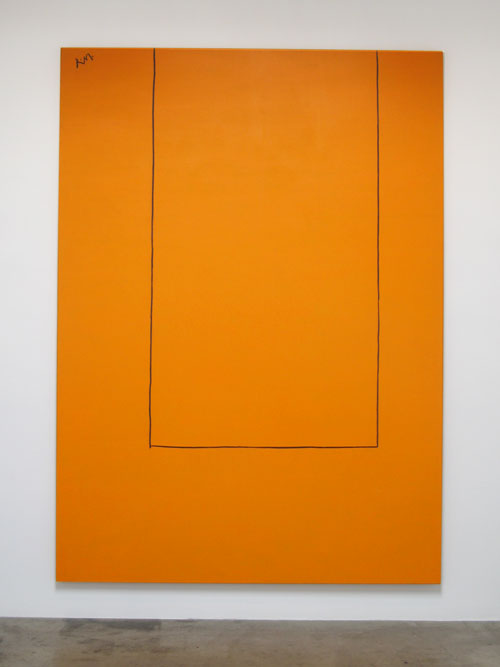 Open No. 20 In Orange with Charcoal Line_Robert Motherwell